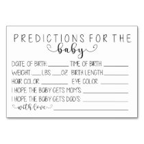 picture relating to Baby Prediction Cards Free Printable known as Boy or girl Predictions - Very little Prints Events