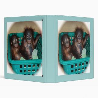 Baby Primate Sleepover 3 Ring Binder