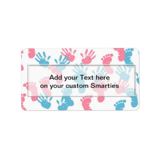 Baby Prints Baby Smartie Candy wrappers Labels