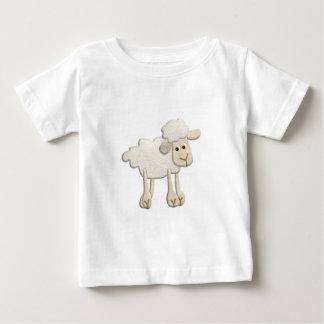 BABY PUFFY LAMB SHEEP TEXTILE ART CARTOON CUTE FAR BABY T-Shirt