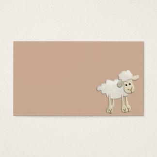 BABY PUFFY LAMB SHEEP TEXTILE ART CARTOON CUTE FAR BUSINESS CARD