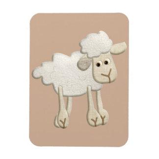 BABY PUFFY LAMB SHEEP TEXTILE ART CARTOON CUTE FAR MAGNET