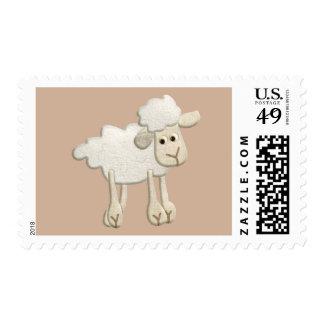 BABY PUFFY LAMB SHEEP TEXTILE ART CARTOON CUTE FAR POSTAGE
