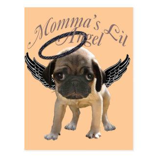 Baby Pug  Angel Postcard