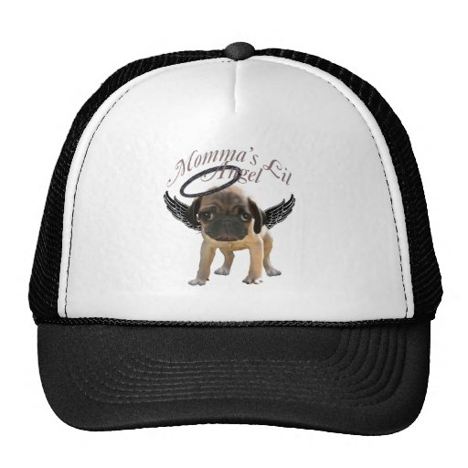 Baby Pug  Angel Trucker Hat