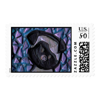 Baby Pug Postage Stamps