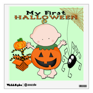 Baby Pumpkin My 1st Halloween Square Wall Decal