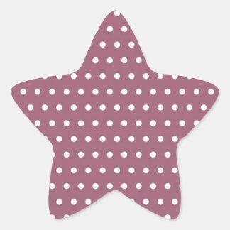 baby puntúa polka dots hots muster puntuado toca l pegatina en forma de estrella
