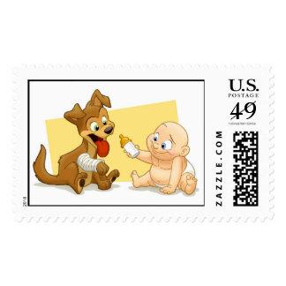 Baby & Puppy Stamp