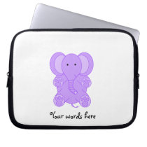 Baby purple elephant computer sleeve
