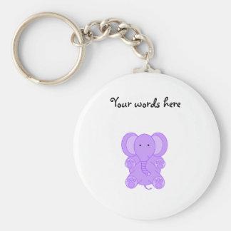 Baby purple elephant keychain