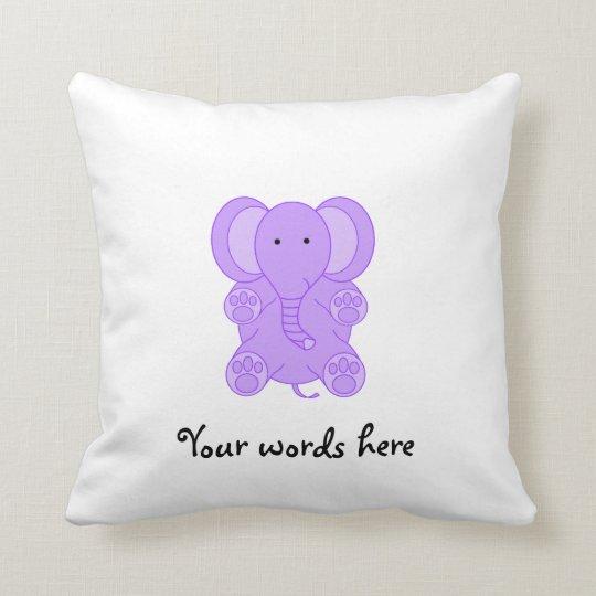 Baby purple elephant throw pillow