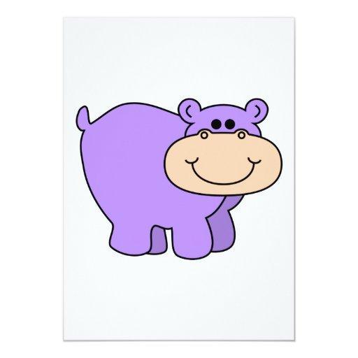 baby purple hippo announcement