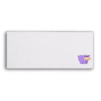 baby purple hippo envelope