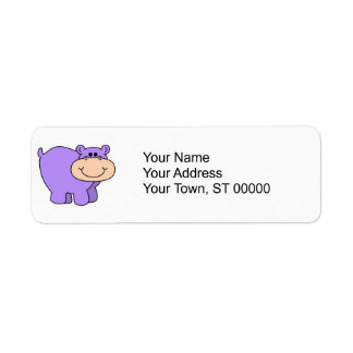 baby purple hippo label