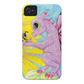 Baby Purple Pink Dragon Fairy Bee Friend Daisy iPhone 4 Case-Mate Case