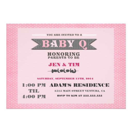 baby q baby shower invitation zazzle