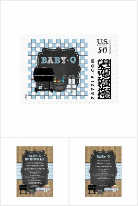 Baby-Q Baby Shower / rustic blue