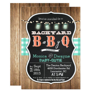 Baby Q BabyQ Couples Shower BBQ Invitation