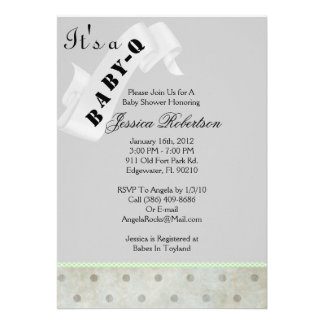 Baby Q Bar-B-Q Shower Cute Custom Invites