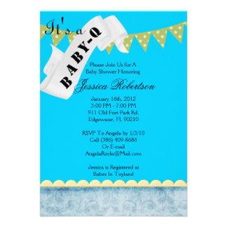 Baby Q Bar-B-Q Shower Cute Personalized Invites