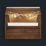 """Baby Q Coed BBQ Baby Shower Envelope Wood Rustic<br><div class=""""desc"""">♥ A perfect addition to your Coed Baby Shower Party! Baby Q Coed BBQ Rustic Wood Theme with string lights.</div>"""