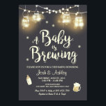 """Baby Q invitation Coed BBQ Baby brewing shower<br><div class=""""desc"""">♥ A fun and rustic Coed baby shower invite,  for a BaByQ! A Baby is brewing theme. For a gender neutral baby shower.</div>"""