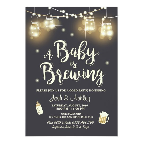baby q invitation coed bbq baby brewing shower zazzle com