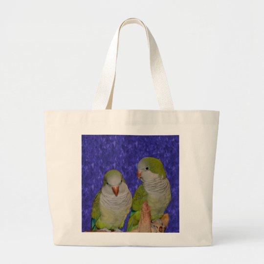 Baby Quaker Parrot Pair Animal Tote Bag