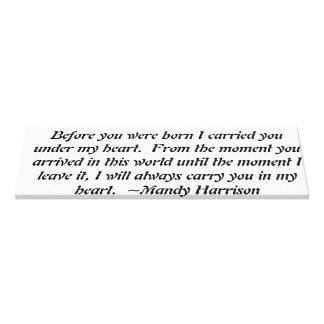 baby quote canvas print