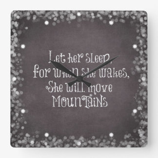 Baby Quote: Let Her Sleep, for When She Wakes Wall Clock