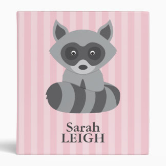 Baby Raccoon 3 Ring Binder