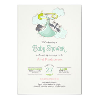 Baby Raccoon Bundle Special Deliver Shower Card