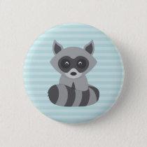 Baby Raccoon Button