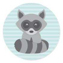 Baby Raccoon Classic Round Sticker