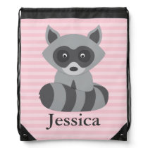 Baby Raccoon Drawstring Backpack