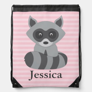 Baby Raccoon Drawstring Backpack