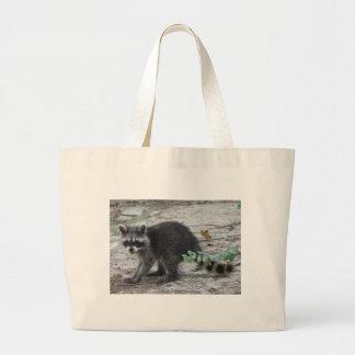 Baby Raccoon Large Tote Bag