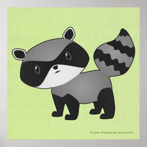Baby Raccoon Print