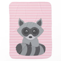 Baby Raccoon Stroller Blanket