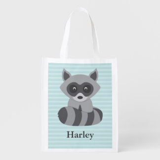 Baby Raccoon Reusable Grocery Bag