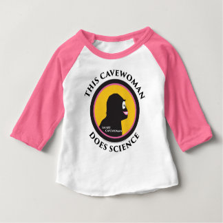 Baby Raglan T-Shirt This Smart Cavewoman Does Scie