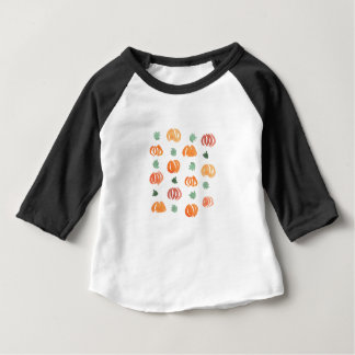 Baby raglan T-shirt with pumpkins and leaves