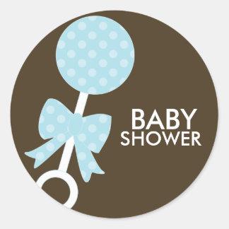 Baby Rattle Shower Envelope Seals