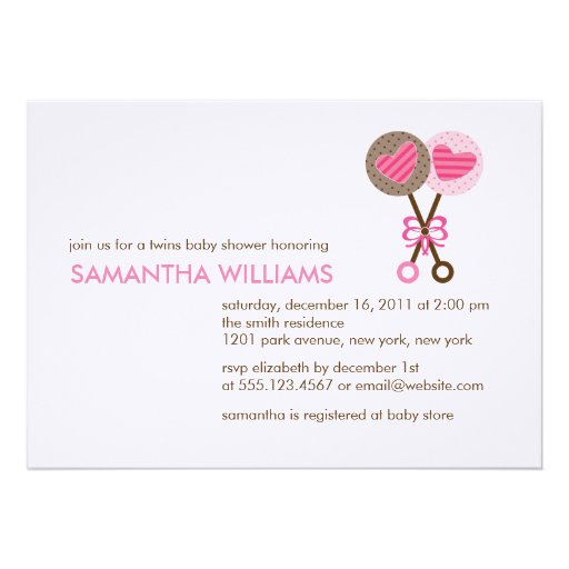 Twin Girl Baby Shower Invitations is the best ideas you have to choose for invitation example