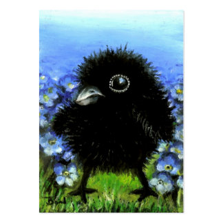 Baby raven ACEO prints Large Business Cards (Pack Of 100)