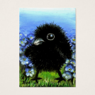 Baby raven ACEO prints Business Card