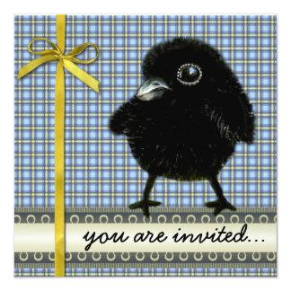 Baby raven custom announcements