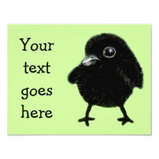 Baby raven invites