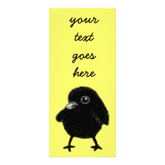 Baby raven rack card